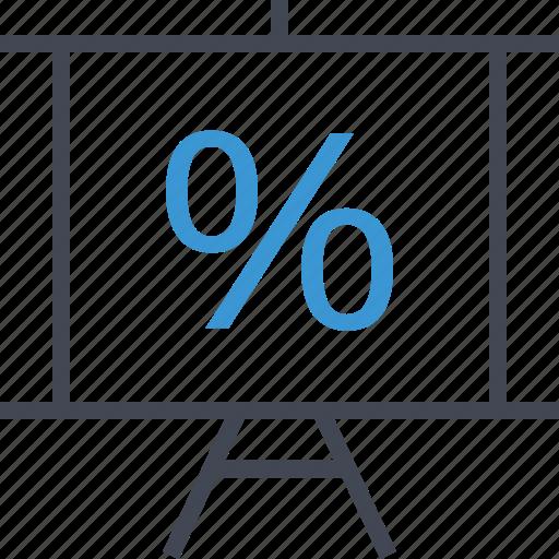 board, percent, percentage icon