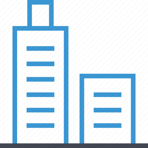 building, skyscraper, towers icon