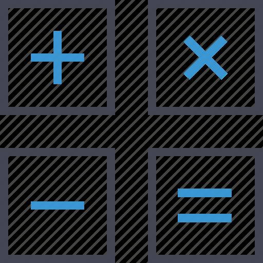 business, caluclator, math icon