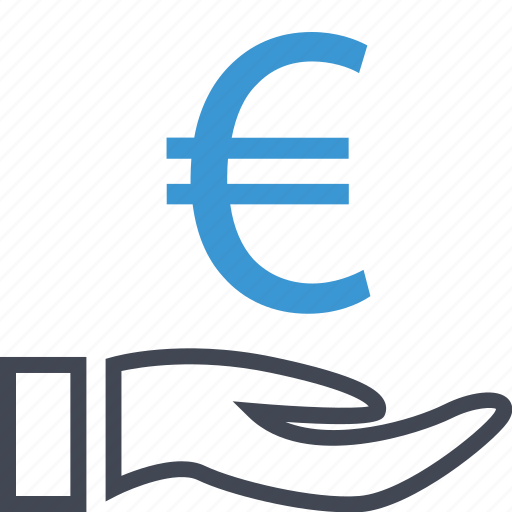 business, euro, hand icon