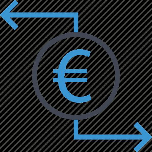arrows, business, left, money icon