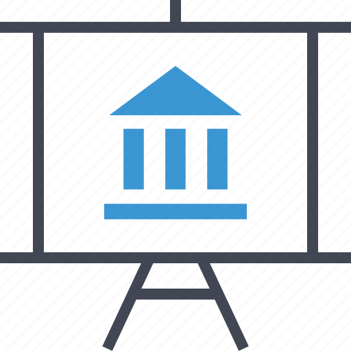 bank, banking, business, presentation icon