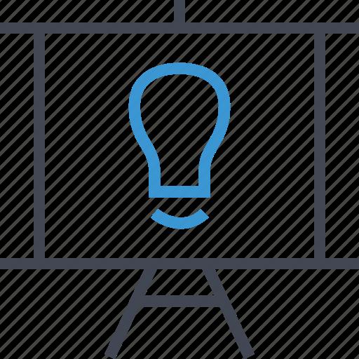 business, light, presentations icon