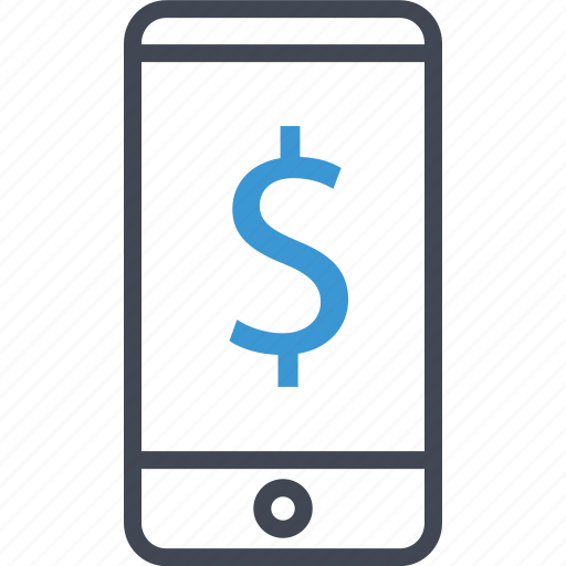 cell, dollar, phone icon