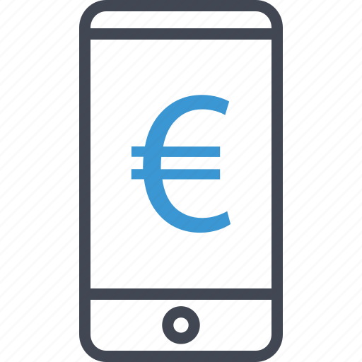 cell, euro, phone, sign icon