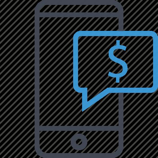 chat, dollar, money, talk icon