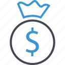dollar, money, sign icon