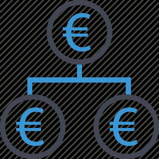 euro, money, strategy icon