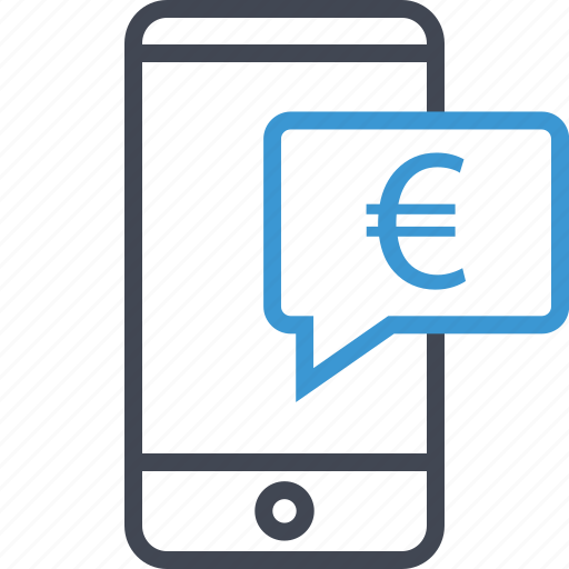 chat, euro, money, sign icon