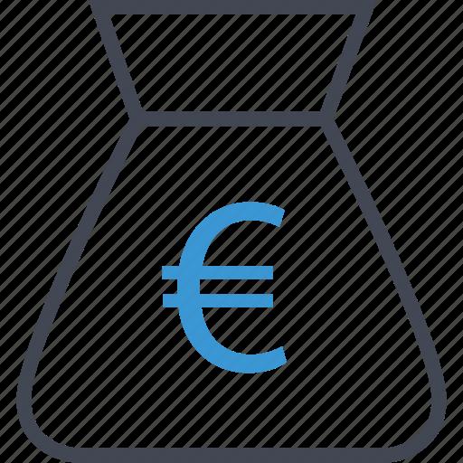 bag, euro, money, sign icon