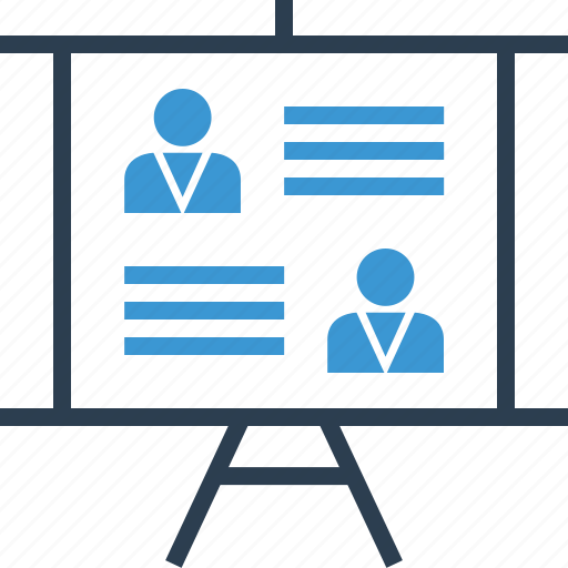 analytics, data, meeting icon