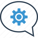 chat, options, setup, talk icon
