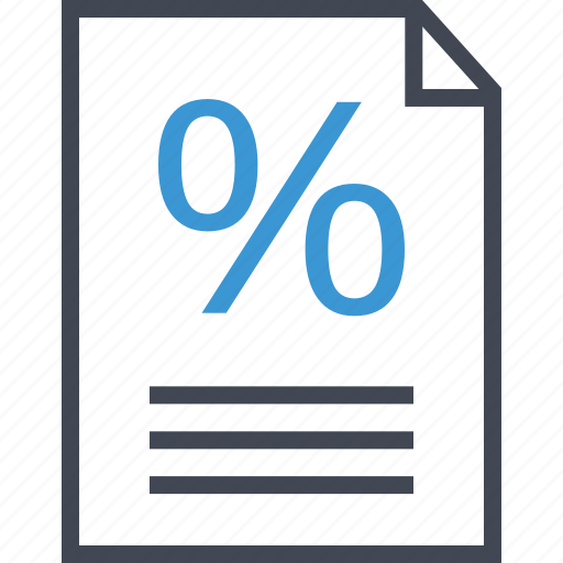 contract, percent, percentage icon