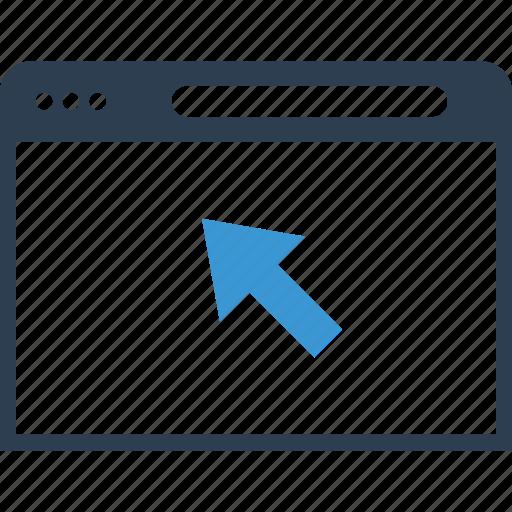 arrow, click, web icon