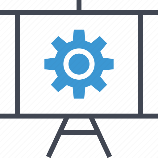 presentation, setup, work icon