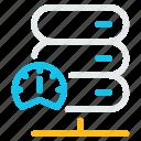data, database, fast, internet, network, speed, storage icon