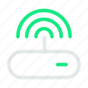 data, database, internet, network, router, storage, wifi icon