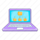 file, folder, laptop icon