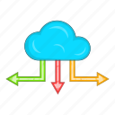 arrow, cloud icon