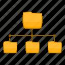archive, document, file, folder, structure icon