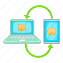 data, file, synchronization icon