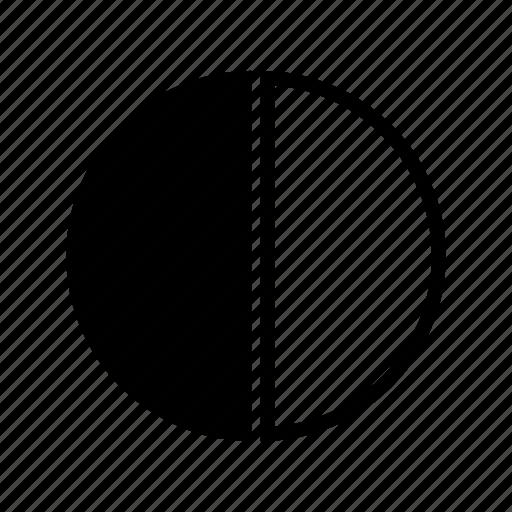 Charts Graph Half Pie Chart Pie Diagram Pie Graph Share Icon