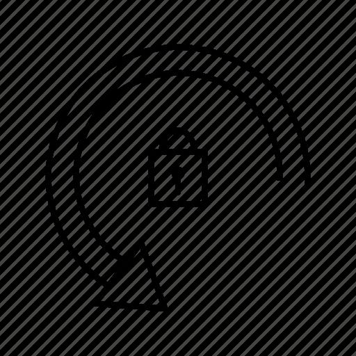 locked, rotation, secure icon