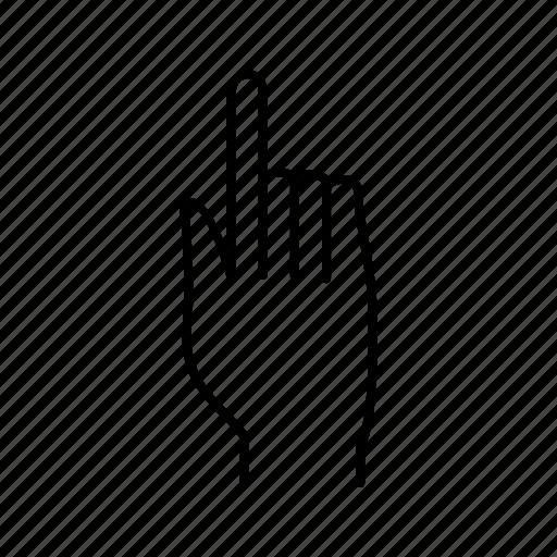 finger, hand, raised icon