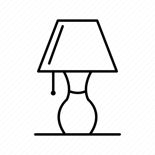 lamp, light, table lamp icon