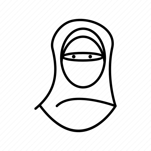 Niqab, woman, avatar, female icon - Download on Iconfinder