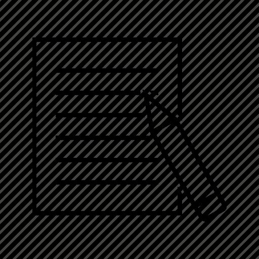 assignment, document, homework icon