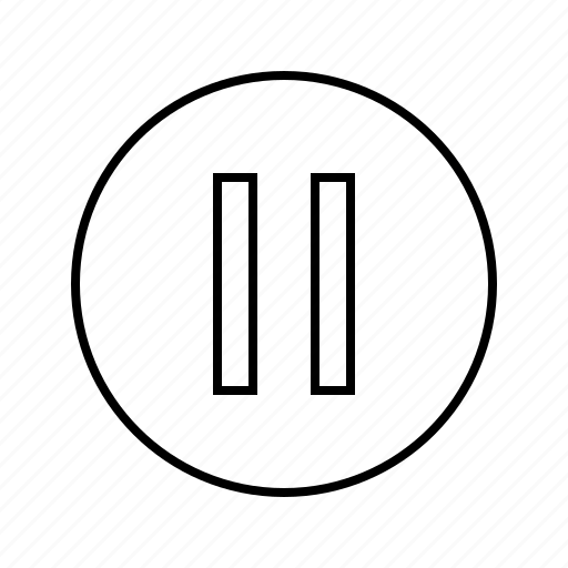 media, multimedia, pause icon