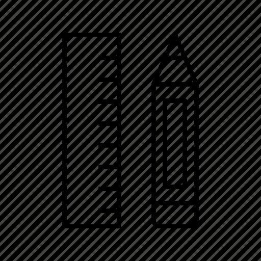 pencil, ruler, tool icon