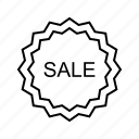label, sale, sticker, tag icon
