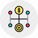data, finance, monetization, money, transfer, value icon