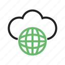 business, cloud, computer, global, network, technology icon