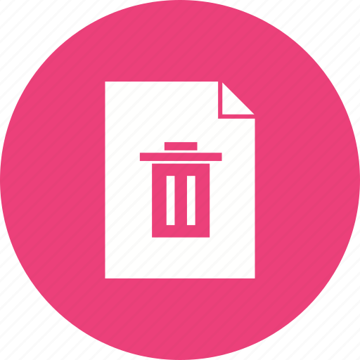 bin, delete, document, empty, file, remove, trash icon