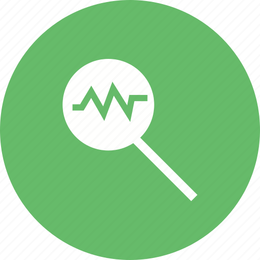 analyze, business, chart, data, focus, search icon