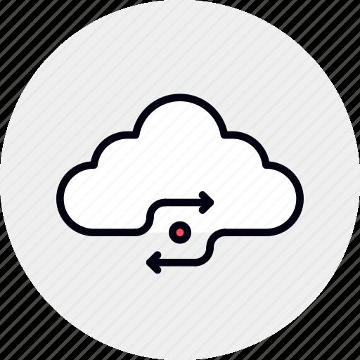cloud, data, information, sync, synchronization, syncing, web icon