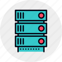 data, database, rack, server, storage icon
