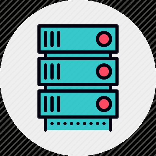 Data, database, rack, server, storage icon - Download on Iconfinder