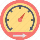 efficiency, fast, performance, pointer, processing, speed, speedometer icon