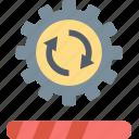 update, gear, loading, process, refresh, reload, work