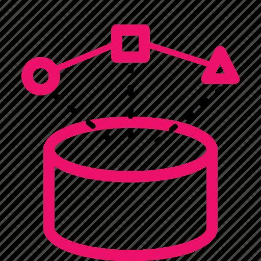 analysis, data, database, information, integration, mining, preprocessing icon