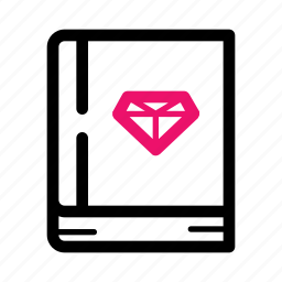 analysis, book, data, diamond, information, knowledge, mining icon