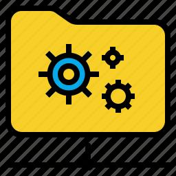 archive, directory, file, folder icon