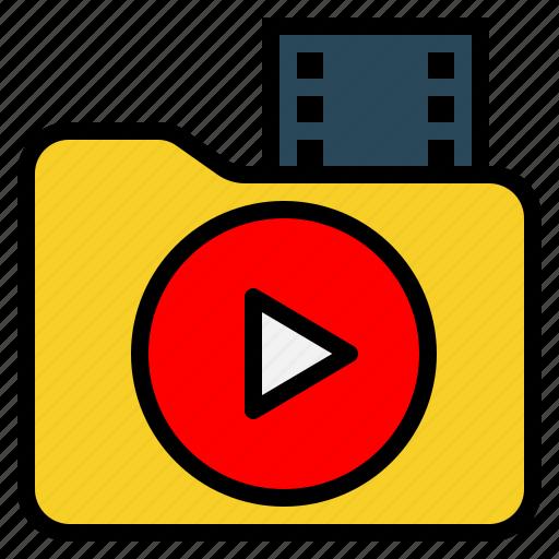 audio, clip, data, document, file, folder, video icon