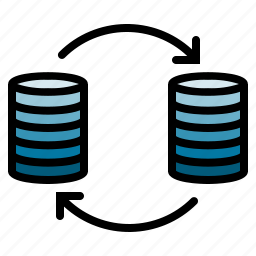 data, integration, management icon