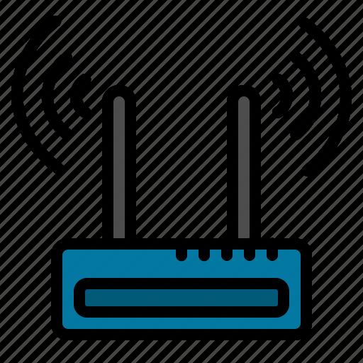 internet, modem, wifi icon