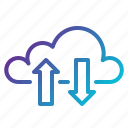 cloud, computing, data, links, tranfer icon